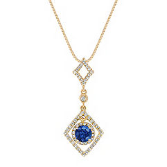 Sapphire and Diamond Pendant (18 in.)