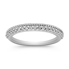 Diamond Wedding Band with Pavé Setting for Her
