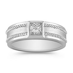 Princess Cut Diamond Ring for Him