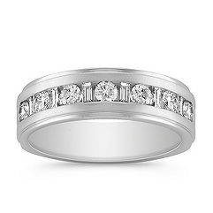 Baguette and Round Diamond Ring with Channel Setting