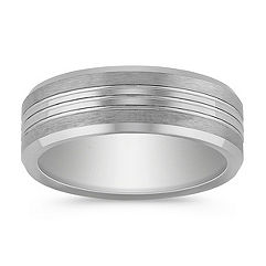 Max-T Engraved Titanium Comfort Fit Ring (7.5mm)