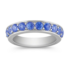 Kentucky Blue Sapphire Wedding Band for Her