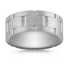 Max-T Textured Titanium Comfort Fit Ring (9mm)