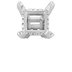 Diamond Alexa Head to Hold up to 1.00 ct. Princess Cut Stone