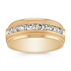 Men's Diamond Ring with Channel Setting