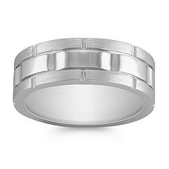 Engraved 14k White Gold Ring (7.5mm)