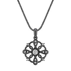 Diamond Pendant with Black Ruthenium (18 in.)