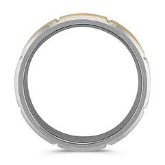 Satin Cobalt and 14k Yellow Gold Comfort Fit Band (9mm)