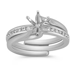 Classic Diamond Wedding Set with Channel Setting