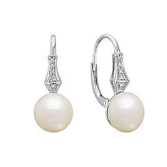 9mm Cultured Freshwater Earrings in Sterling Silver