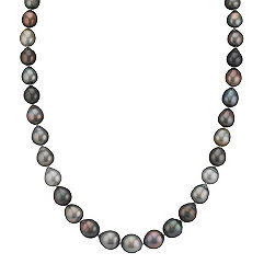 8mm Cultured Tahitian Pearl Necklace in Sterling Silver (26)