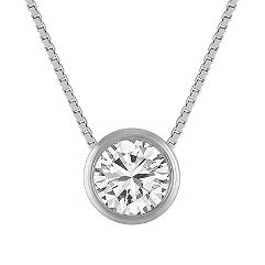 Bezel-Set Diamond Pendant (20 in.)