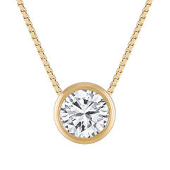Diamond Bezel-Set Pendant (20 in.)