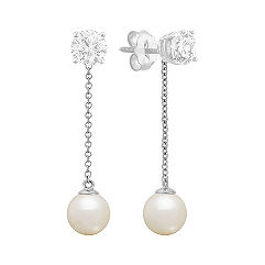 6.5mm Cultured Freshwater Pearl Earring Jackets
