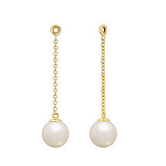 6.5mm Cultured Freshwater Pearl Earring Jacket