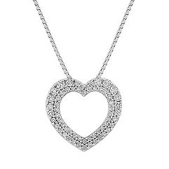 Diamond Heart Pendant with Pavé Setting (18 in.)