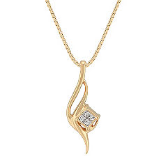 Princess Cut Diamond Swirl Pendant (18 in.)