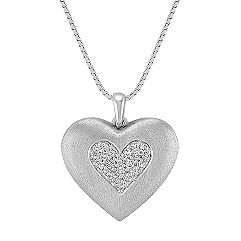 Diamond Heart Pendant (18 in.)