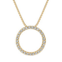 Classic Diamond Circle Pendant (18 in.)