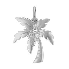 Round Diamond Palm Tree Charm