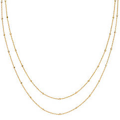 14k Yellow Gold Wheat Chain with Stations