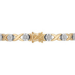 Diamond Bracelet in Two-Tone Gold (7)