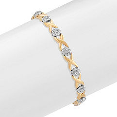 Diamond Bracelet in Two-Tone Gold (7 in.)
