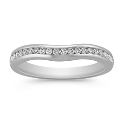 Round Diamond Contour Wedding Band with Channel Setting