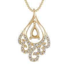 Diamond Swirl Pendant (18 in.)