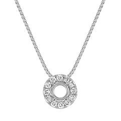 Diamond Halo Pendant (18 in.)