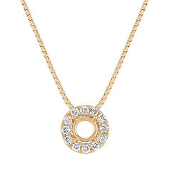 Round Diamond Halo Pendant (18 in.)