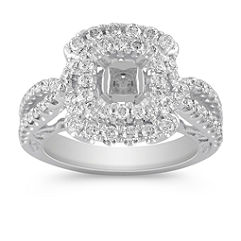 Halo Vintage Diamond Engagement Ring
