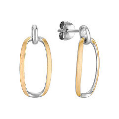 Sterling Silver and Yellow Sterling Silver Earrings