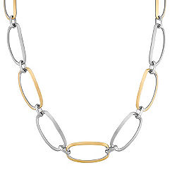 Sterling Silver and Yellow Sterling Silver Link Necklace (18 in.)