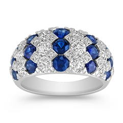 Sapphire and Diamond Fashion Ring