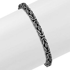 Sterling Silver Bracelet with Black Rhodium (8.5 in.)