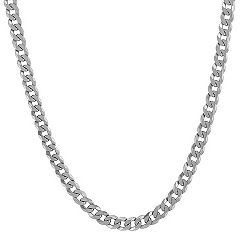 Sterling Silver Curb Necklace (24 in.)