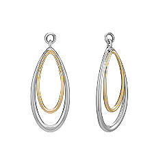 14k Two-Tone Gold Teardrop Earring Jackets