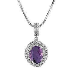 Freeform Lavender Sapphire and Diamond Pendant (22 in.)