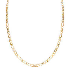 Figaro Necklace in 14k Yellow Gold (24 in.)