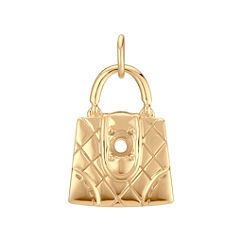 14k Yellow Gold Purse Charm