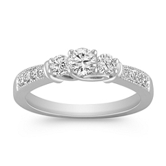 Diamond Three-Stone Ring