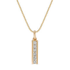 Round Diamond Drop Pendant (18)