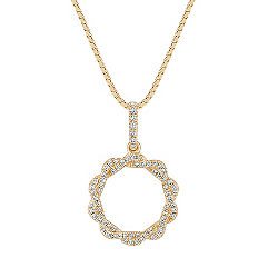 Diamond Twist Circle Pendant (18 in.)