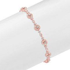 Diamond Bracelet in Rose Gold (7.25 in.)