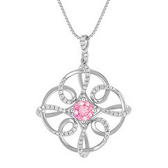 Pink Sapphire and Diamond Pendant (18 in.)
