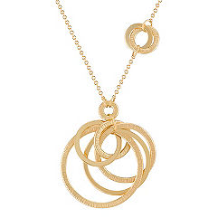 14k Yellow Gold Multi-Circle Necklace (18 in.)