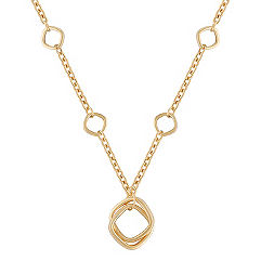 14k Yellow Gold Geometric Necklace (18 in.)