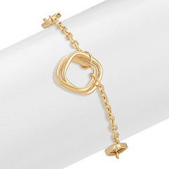 14k Yellow Gold Geometric Bracelet (7.5 in.)