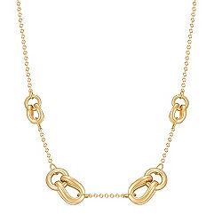 14k Yellow Gold Knot Necklace (18 in.)